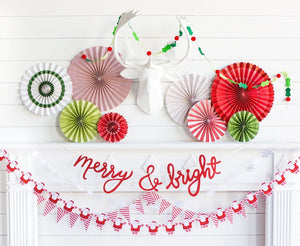 Berries & Holly Felt Banner