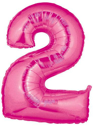 "Pink 40"" Number ""2"" Balloon"