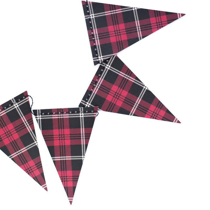 Plaid Mini Pennant Banner