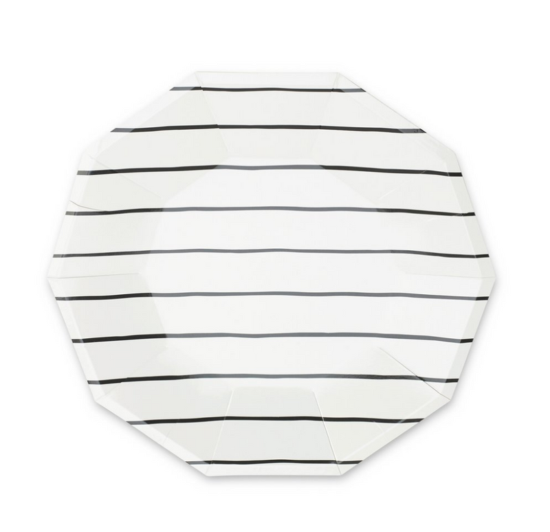 Frenchie Striped Large Plates