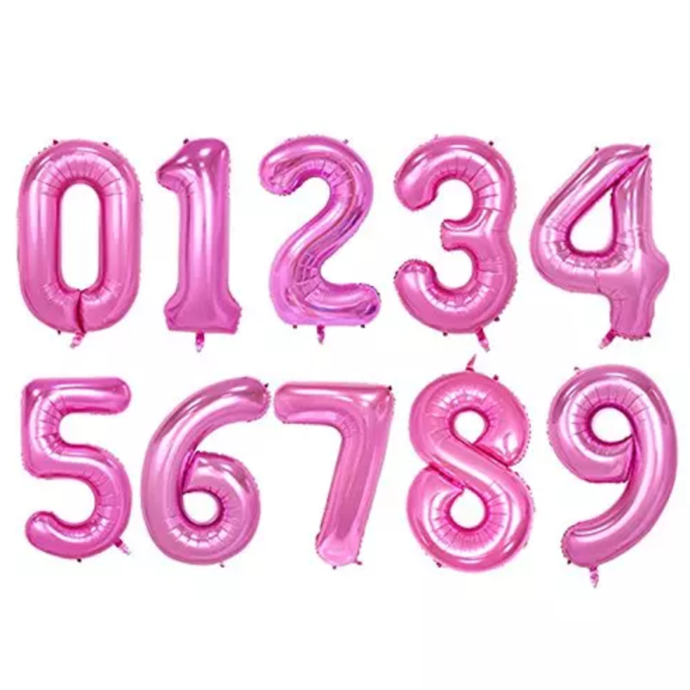 "Giant 40"" Foil Number Balloons - Pink"