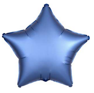 "Azure Blue 19"" Satin Luxe Star Balloon"