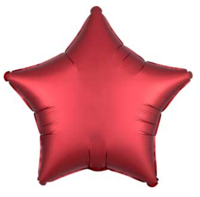 "Sangria Red 19"" Satin Luxe Star Balloon"