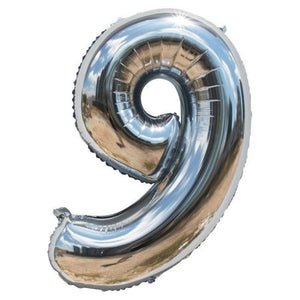 "16"" Foil Balloon Numbers - Silver"