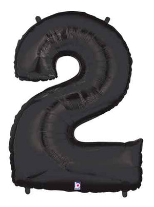 "Black 40"" Number ""2"" Balloon"