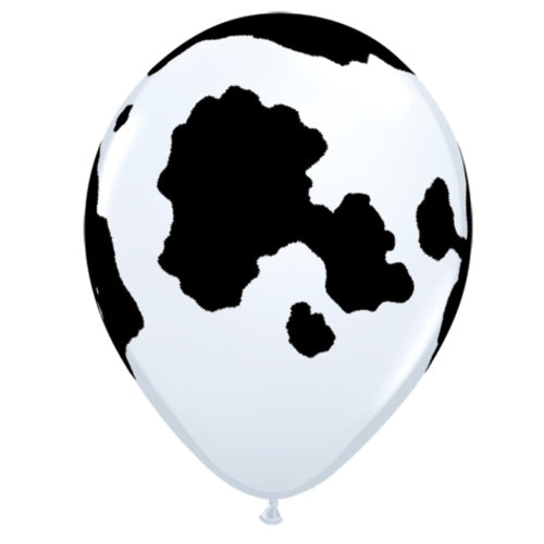 "11"" Cow Print Latex Balloon"