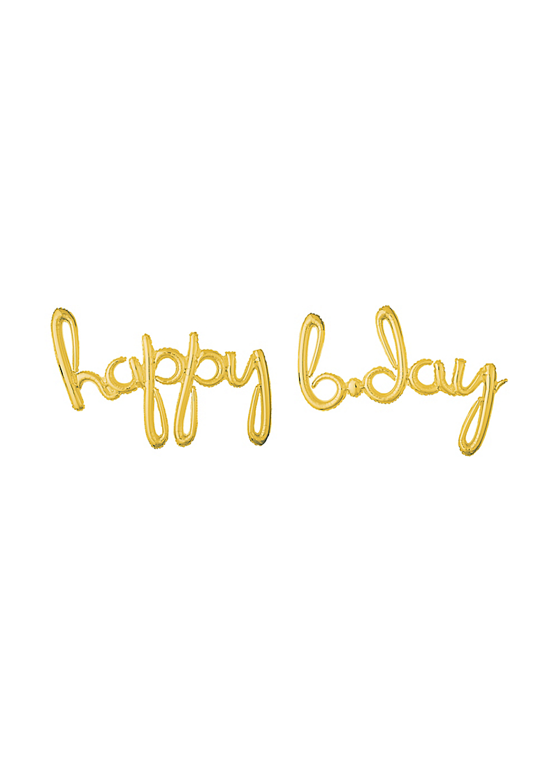 Happy Bday Gold Foil Balloon