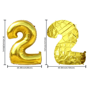"Giant 40"" Foil Number Balloons - Rose Gold"