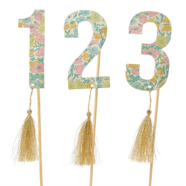 Poppy and Daisy Table Numbers