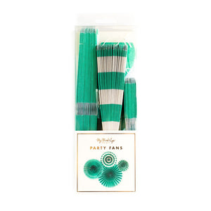 Party Fans-  Teal