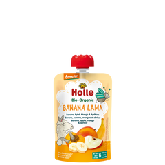 Holle Demeter Banana Lama Pouch Banana, Apple, Mango & Apricot (100g) 6 months+