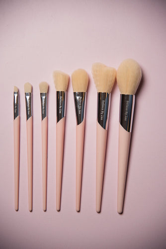 Belleza By Zaa 7pc #Basic Brush Set - Pink & Cream