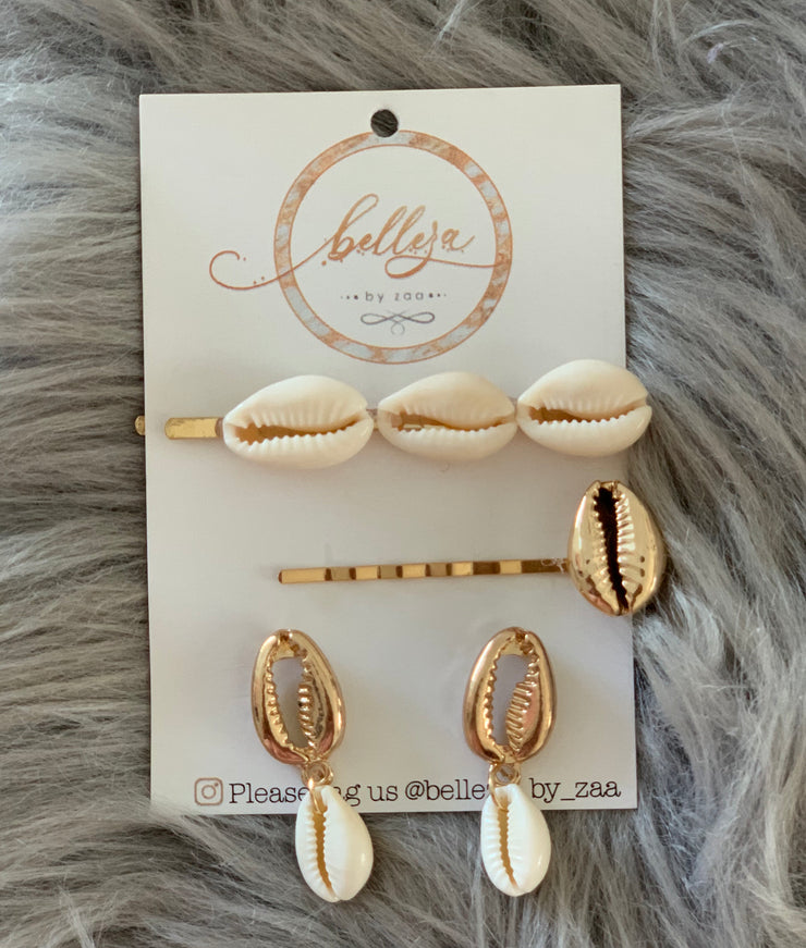 Shell Hairpin Set