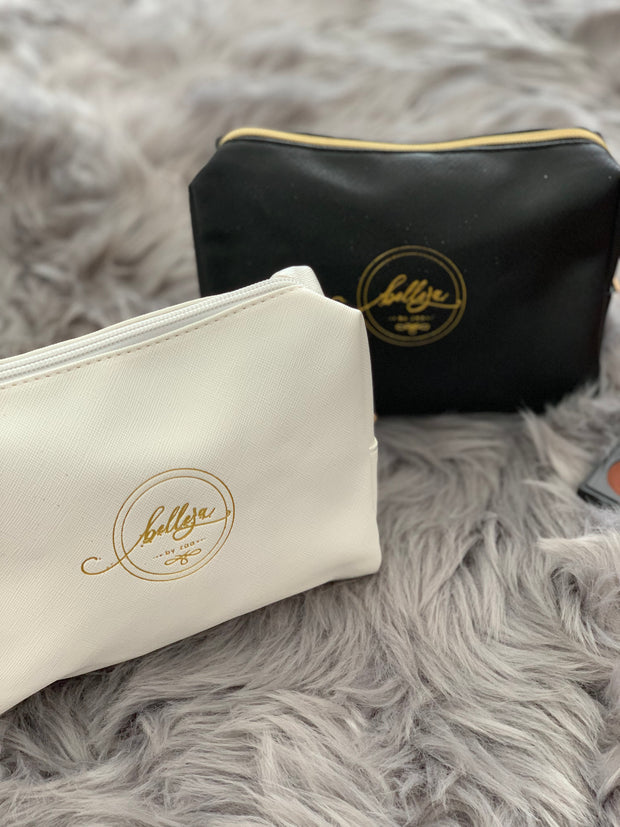 Makeup Bag - White with logo
