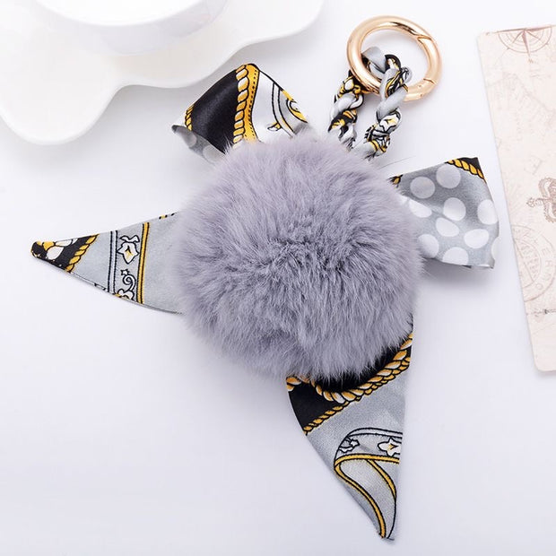 Bag Charm Pom Pom - Grey