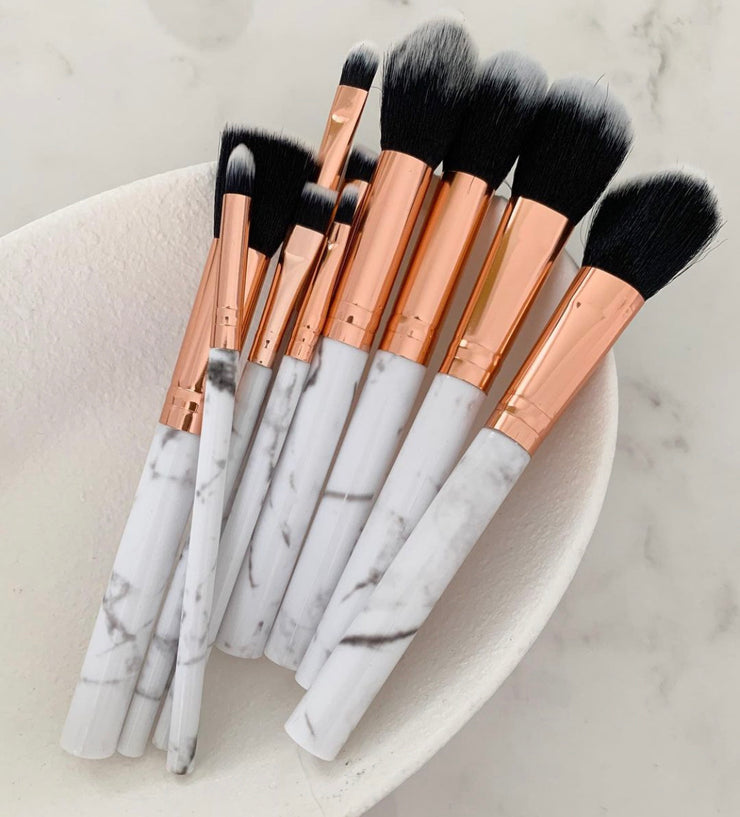 Marble Brush Set 10pc Set