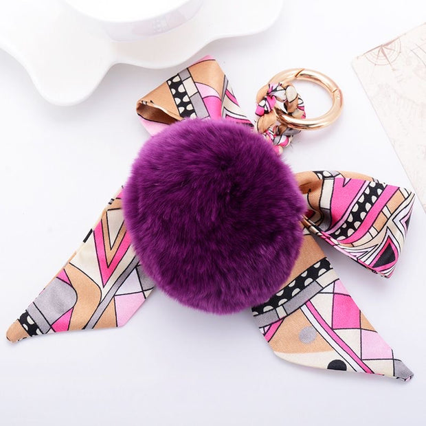 Bag Charm Pom Pom - Purple