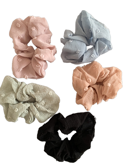 Chiffon Scrunchie pack - 5pc