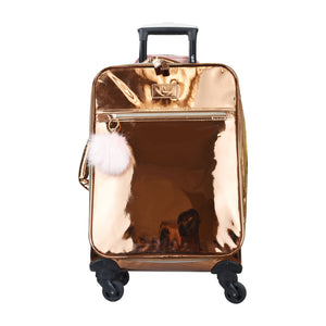 VUE Metallic Collection PREMIUM CARRY ON 3pc set LUGGAGE Rose Gold
