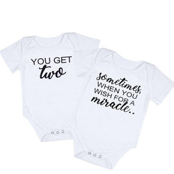 Infant Baby Bodysuit Matching Outfits