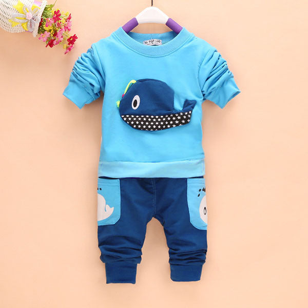 Whale 2PC New Baby Tops and Long Pants