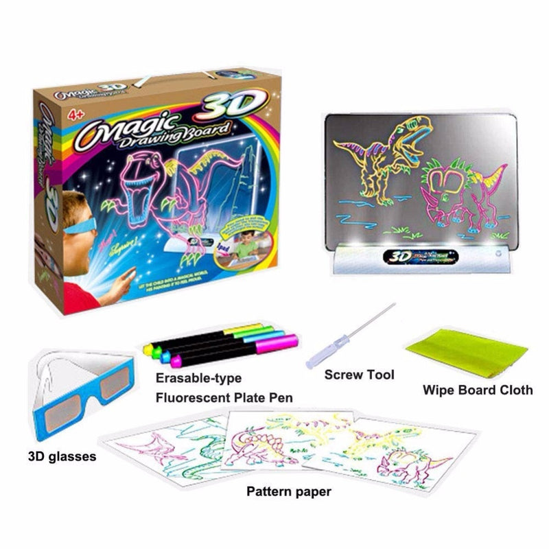 GLOWBOARD™-3D Effect Magic Drawing Board