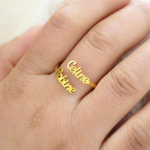 Customized Name Ring