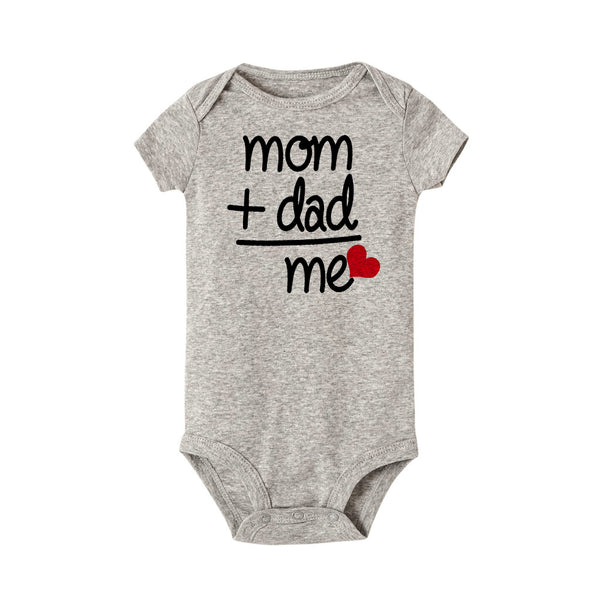 Mom + Dad = Me Baby Romper