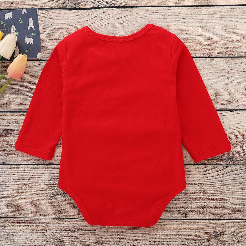 Infant Baby Long Sleeve Christmas Romper