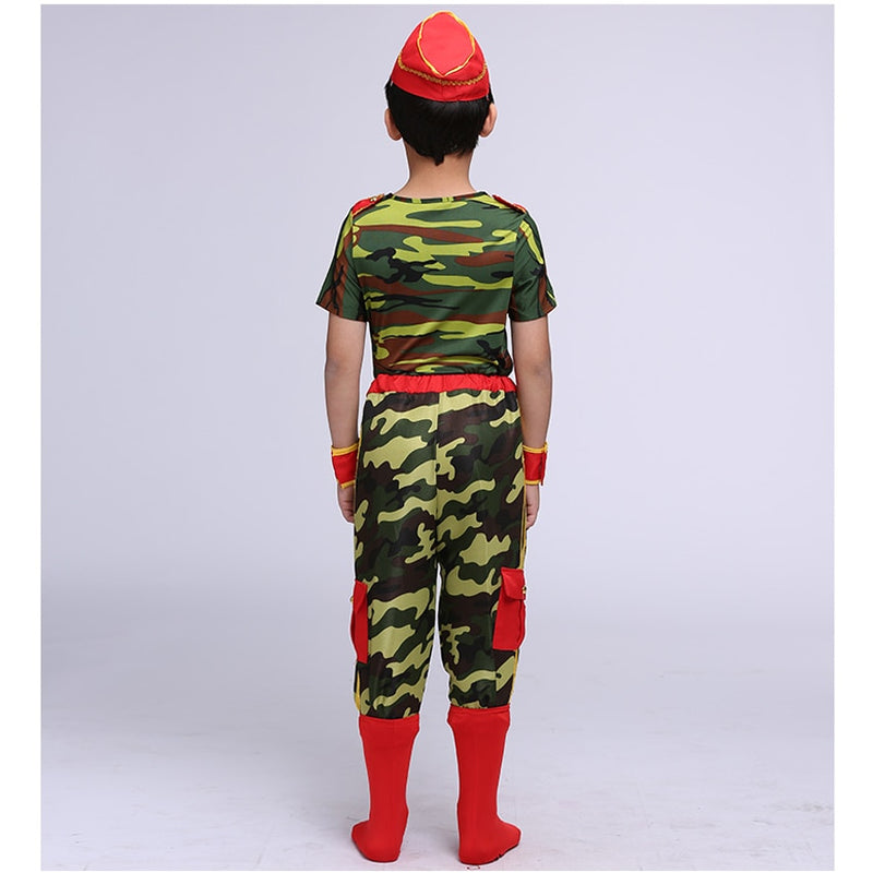 Child army camouflage costume
