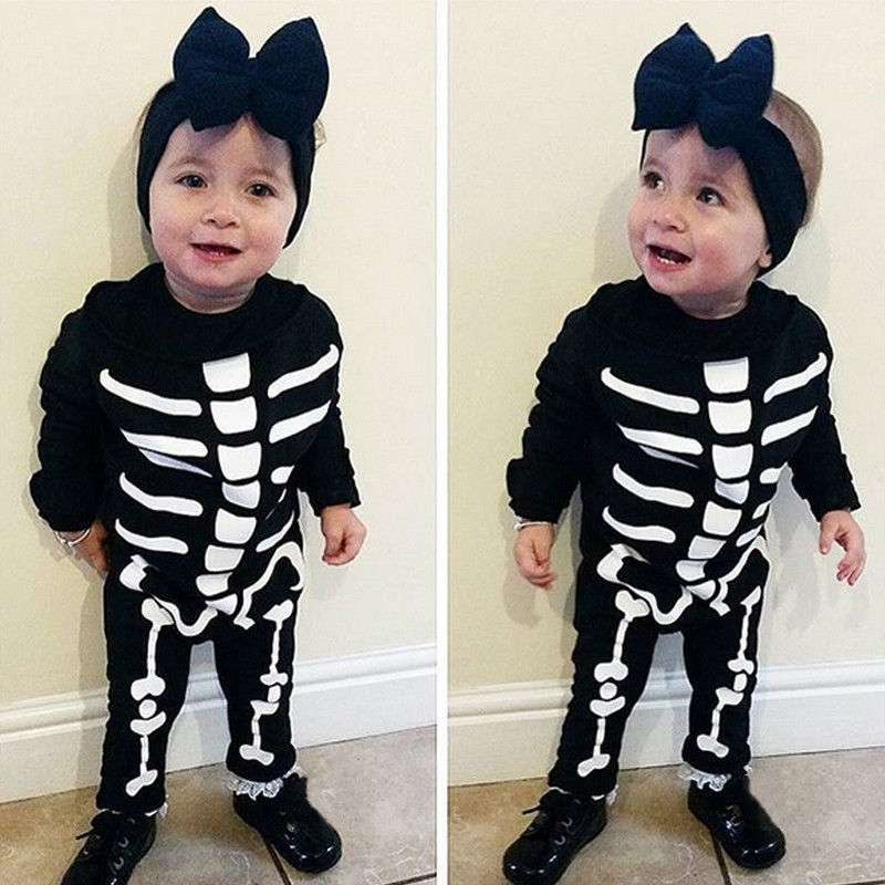 Baby Onesie Skeleton Costume
