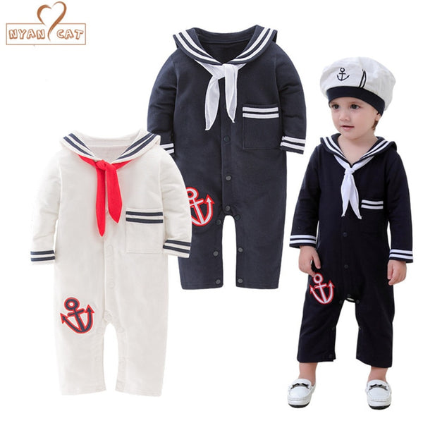 Romper navy costume for boys