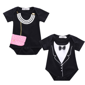 Baby Boy Tuxedo/Girls Costume with Bag & Necklace