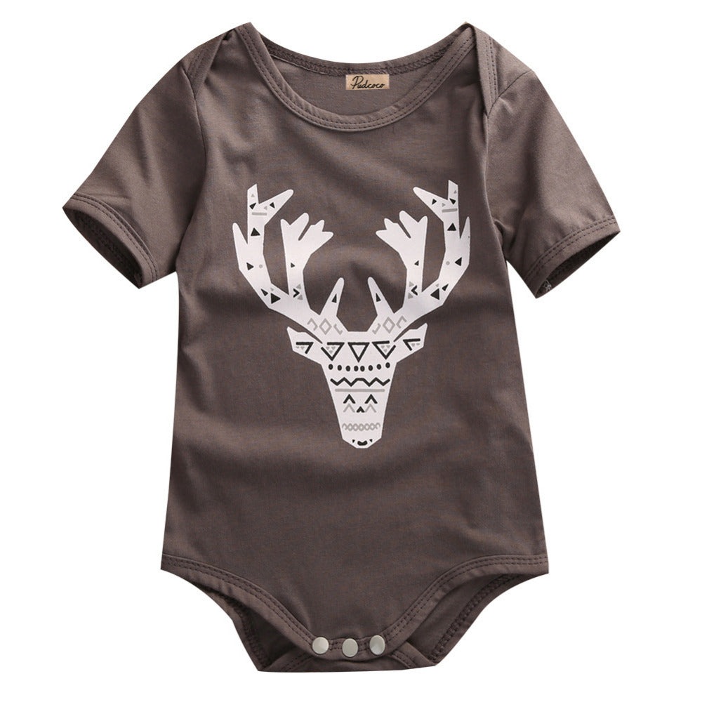 Tribal Elk Short Sleeve Romper