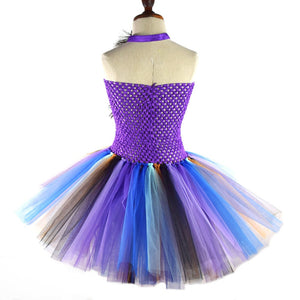 Peacock tutu dress for girls
