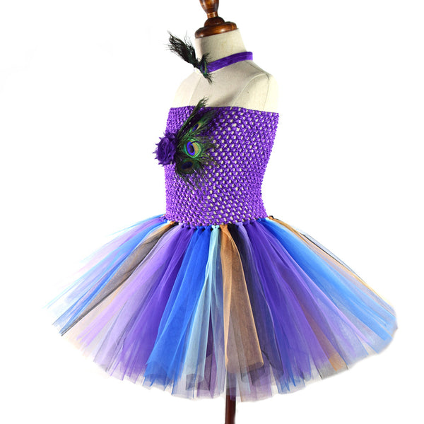 Peacock Tutu Dress Costume