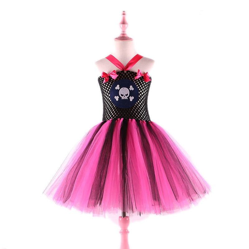 Skull pattern pirate costume dress