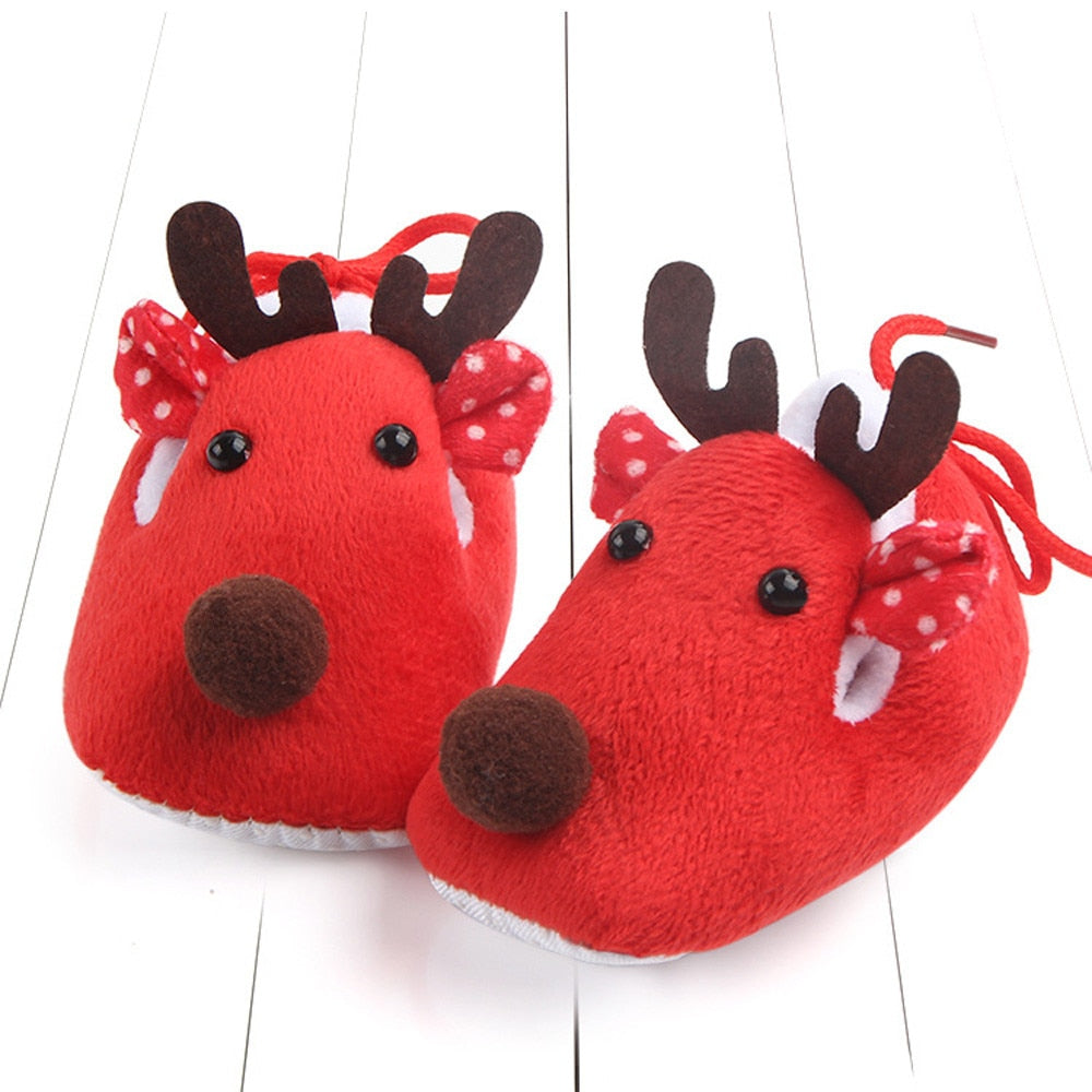 Super Soft Infant Anti-Slip Christmas Crib Shoes
