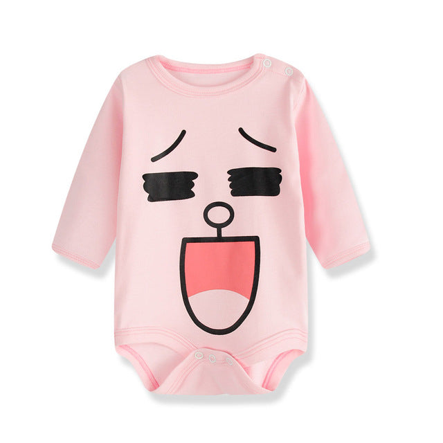 Laughing Face Baby Romper