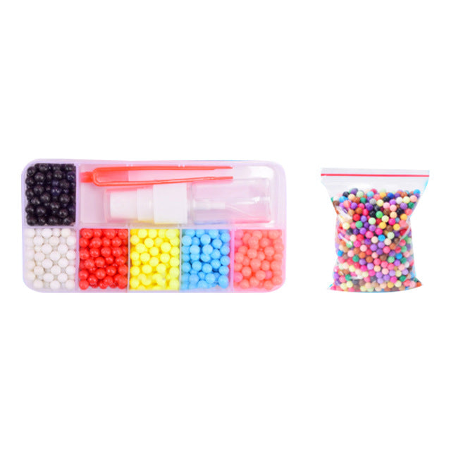 10colors DIY Cartoon Water Mist Magic Bead Puzzle