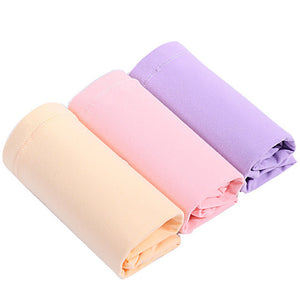 ZTOV 3PCS/Lot Plus size Cotton Maternity Panties for Pregnant Women