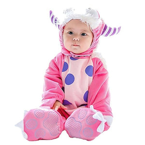 Hooded onesie bodysuit for babies