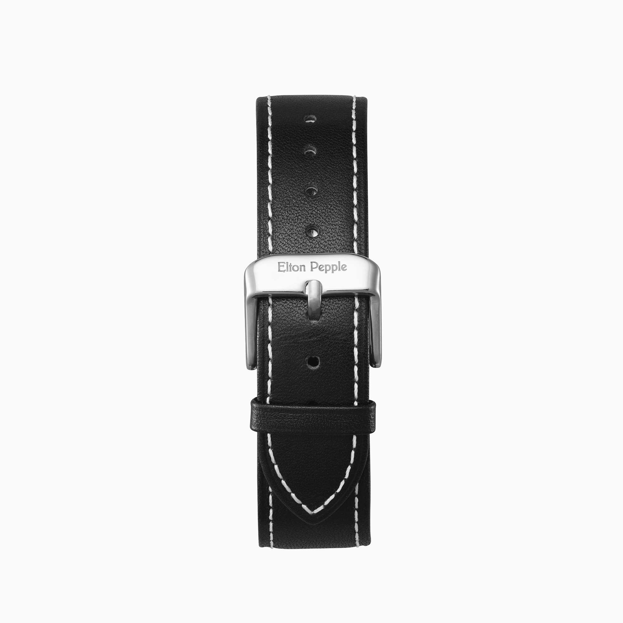 Bucktown Stitch-Silver leather strap