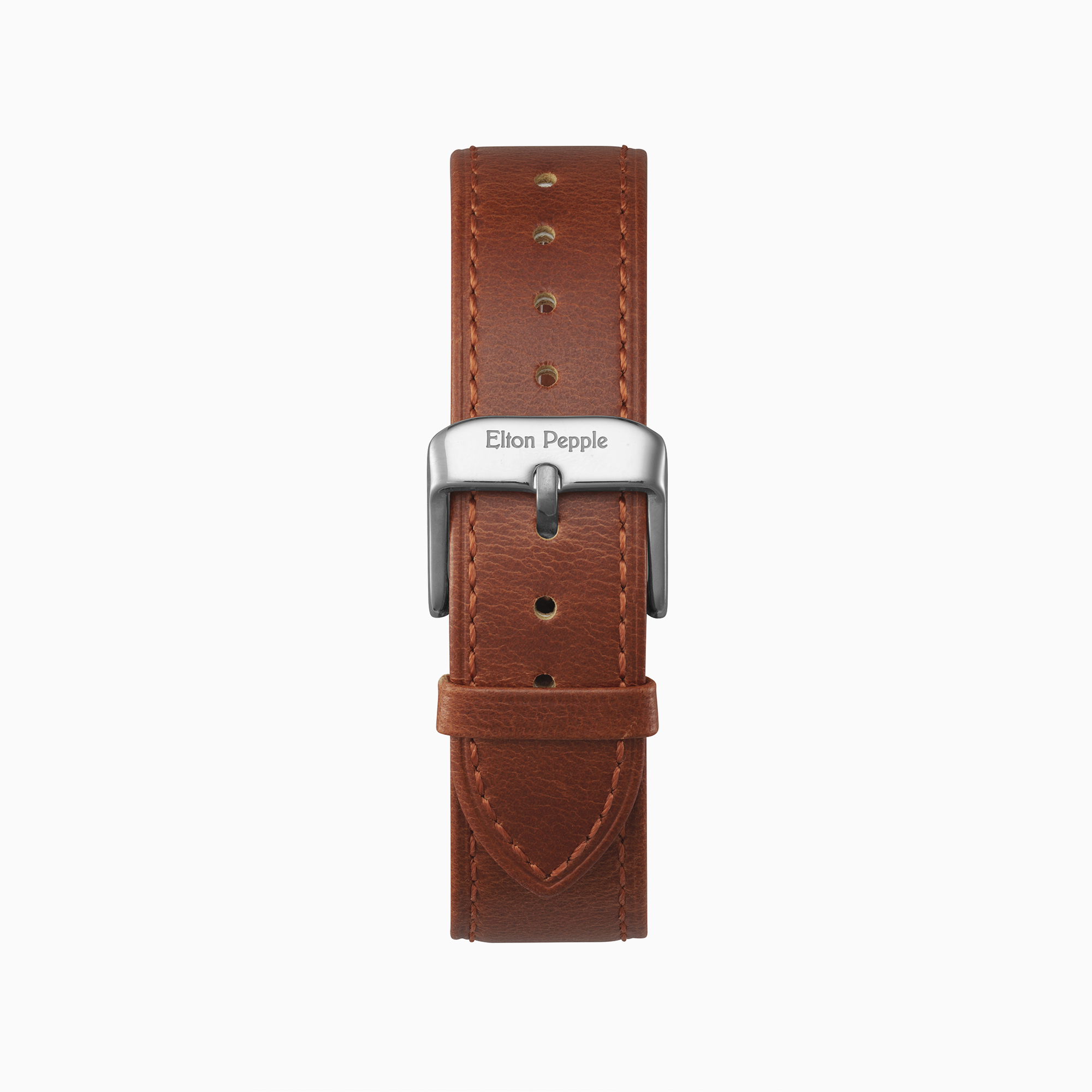 Edgewater - Silver leather strap