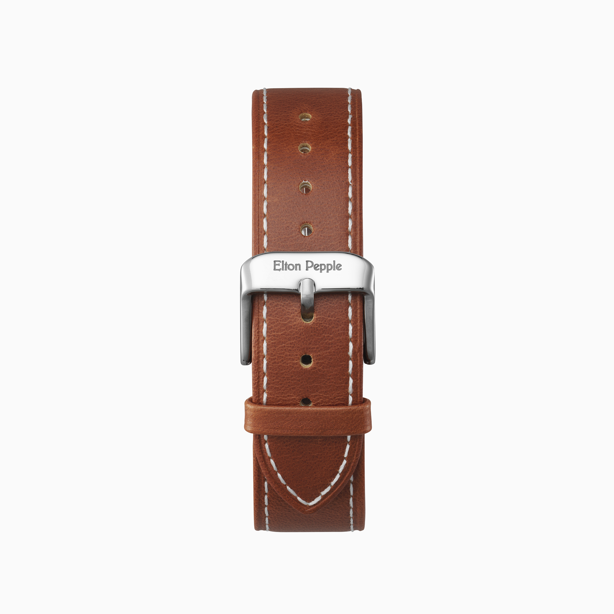 Edgewater Stitch - Silver leather strap