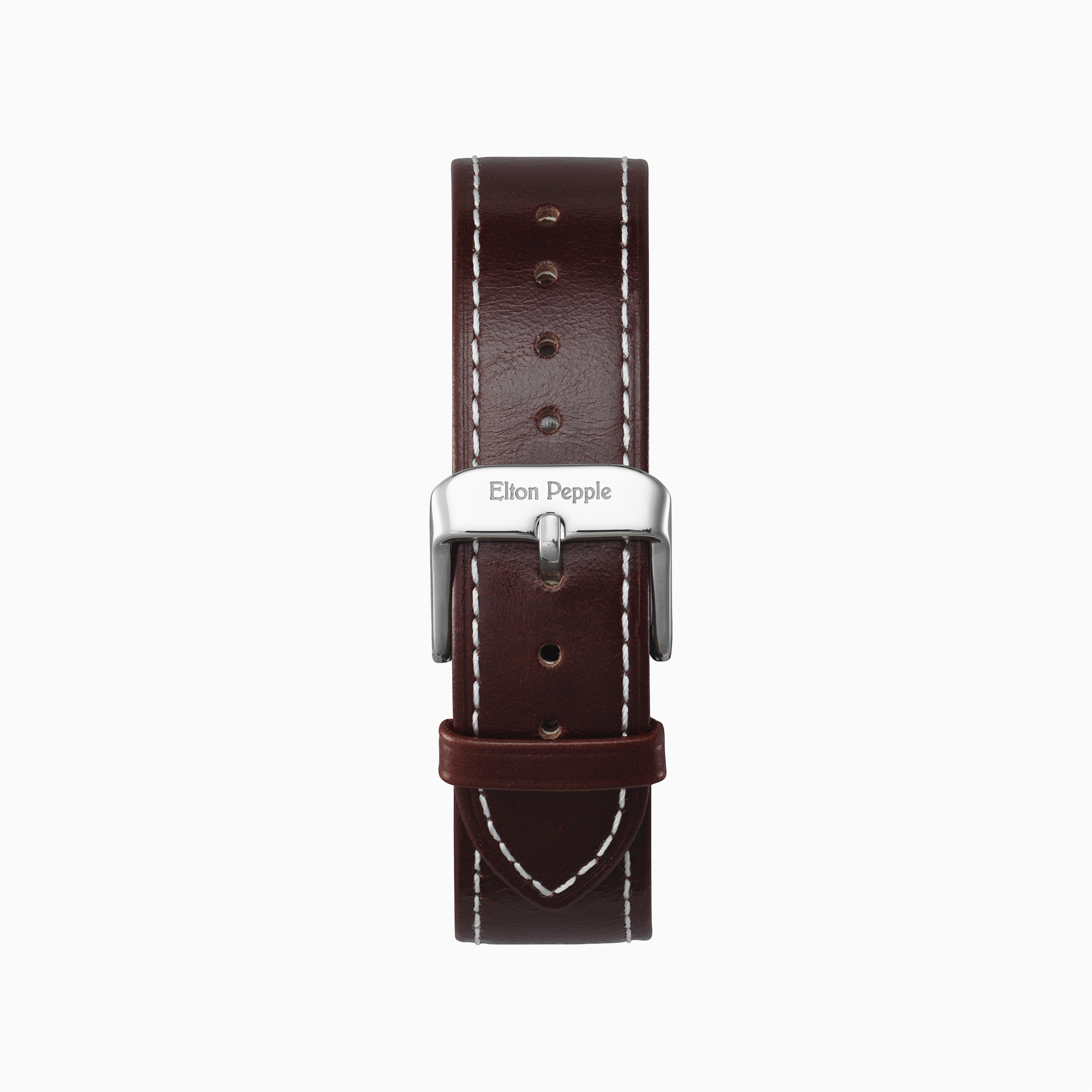 Loop Stitch - Silver leather strap