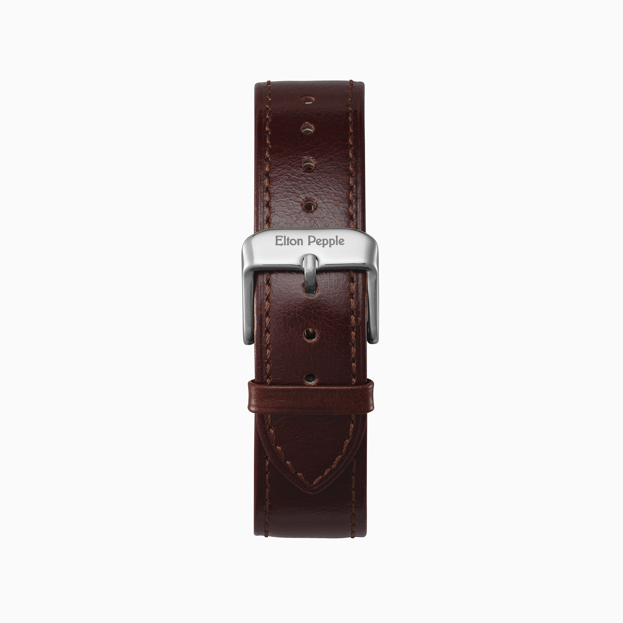 Loop - Silver leather strap