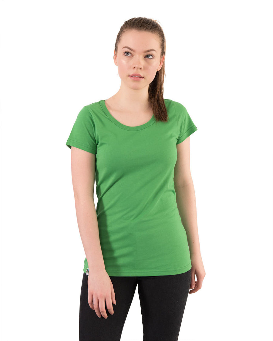 Tshirt Women's Blank Green Organic Fairtrade