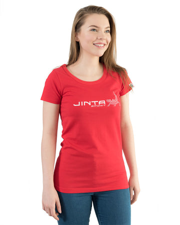 Organic Fairtrade Tshirt Women's Jinta Red