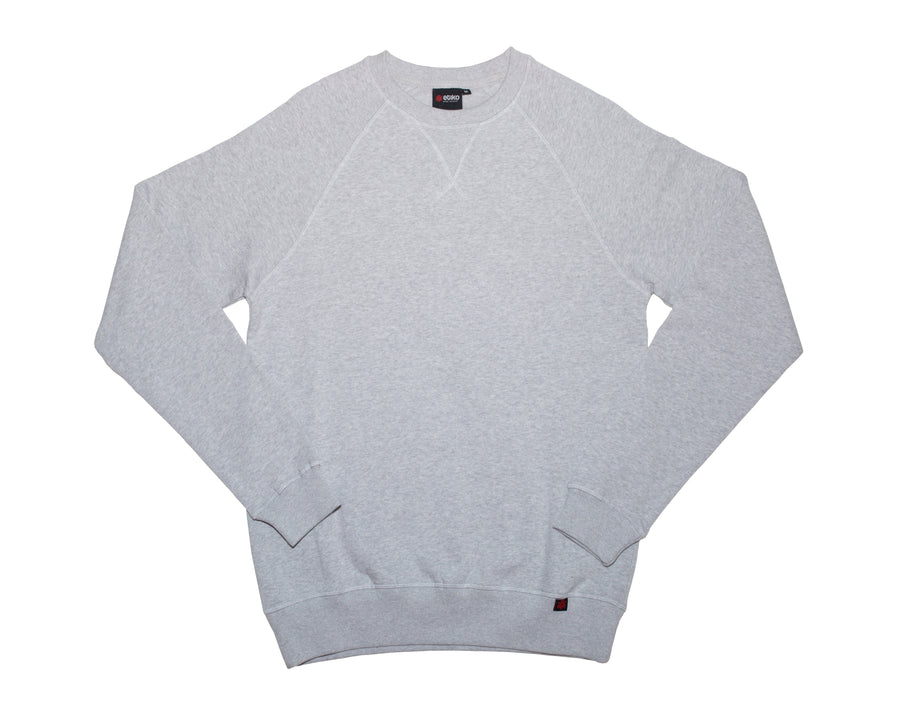Unisex Grey Crew Neck Organic Fairtrade